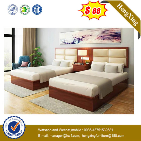 5 Star Hotle Project MDF Bedroom Headboard Hotel Bed (UL-9N0122)